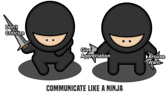 communicate like a ninja